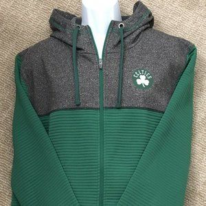 Boston Celtics Full Zip Hooded Sweatshirt Sz XL